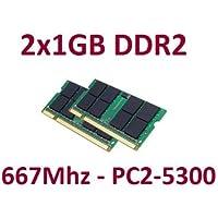Aeneon - Kit Dual Channel: 2 moduli Ram DDR2 SO-DIMM, 1 GB ciascuno, 200 poli (667 MHz, PC2-5300, CL5)