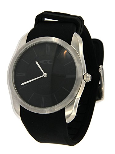 Chronotech Men's Only Time Limited Edition Watch with Stainless Steel Case and Black Silicone Strap