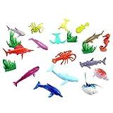 STOBOK 16 stücke Ozean Meer Tier Mini Kunststoff Tier Spielzeug Fisch Figur realistische Spielzeug pädagogisches Spielzeug Bad Spielzeug für Kinder