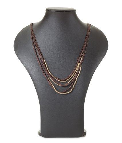 Modeschmuck Mod (Pieces Damen Accessoire by Bestseller Jeans H/M 2012 Star MOD 5819 braun)