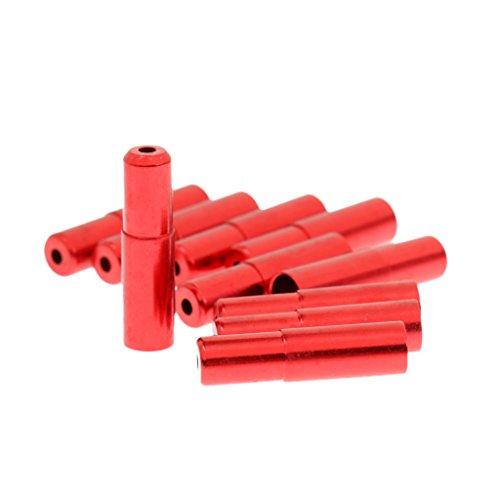 Homyl 20 Stück Endhülsen Endkappen Hülsen Bremszug Kabelendhülsen für Bremsseil Schaltseil - Rot, 4mm (Kabel-gehäuse Ferrule)