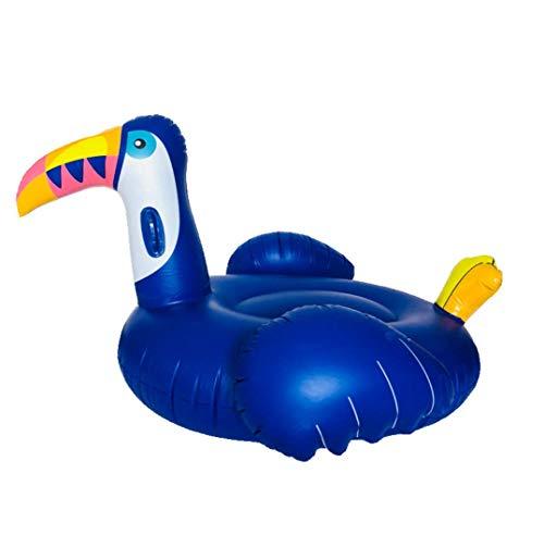 ogel Schwimmbecken schweben Wasser Toucan Mount Fahren auf Schwimmsitz Sommer Outdoor Party Beach Raft Spielzeug für Kinder und Erwachsene Blau 200 * 105 cm ()