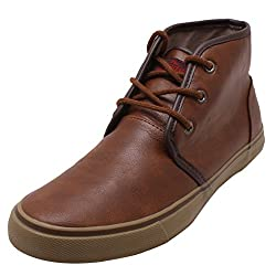 Roadster Mens Brown Leather Chukka Boot - 7 UK