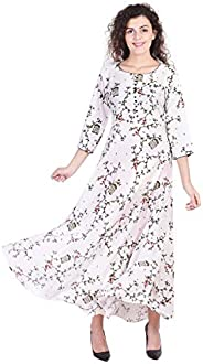 Vihaan Impex Indian Tunic Long Rayon Anarkali Women Dress Partywear Kurti For Women