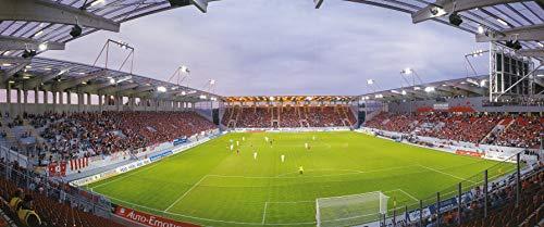 Offenbach Stadion Panorama - Poster 120 x 50 cm - hochwertiger FineArtPrint -