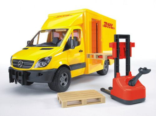 Image of Mercedes Benz Sprinter DHL and Hand Pallet Truck
