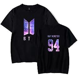 Flyself Unisex Galaxy Impresión Manga Corta Camiseta T-Shirt Bangtan Boys BTS Jimin Jin V Suga Jung Kook J Hope