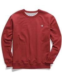Champion Herren Powerblend® Fleece Pullover Crew S0888 Gr. XXL, Team Red Scarlet/White
