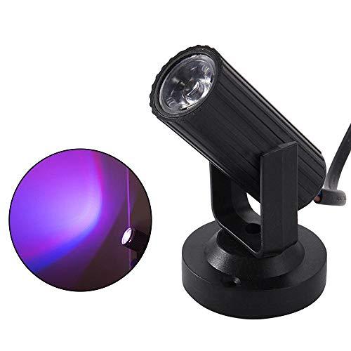 leegoal LED Strahl Pinspot Licht, LED tragbare Bühnenbeleuchtung Mini Bühnenscheinwerfer Projektionslampe Spiegelkugeln Magische Bühnenbeleuchtung mit Ständer für KTV DJ Disco -