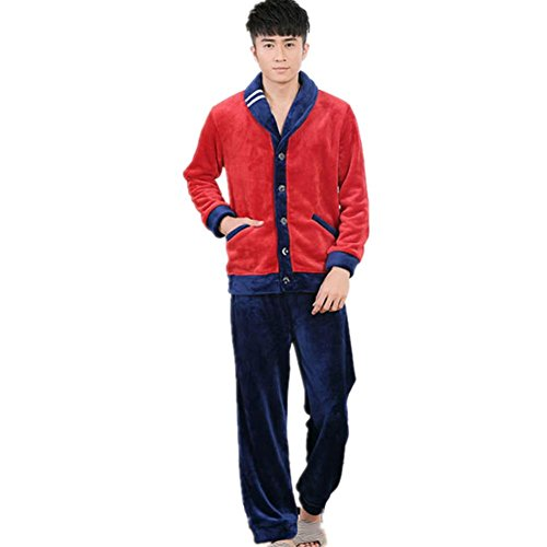 DMMSS Comfort Sleepwear manica lunga Pajama Set uomo con Pj