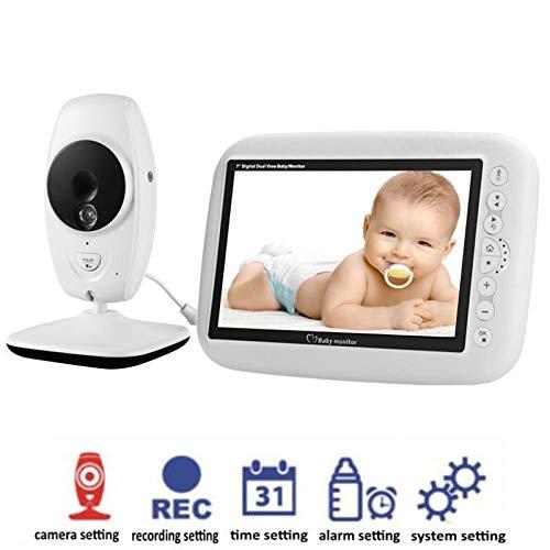 Monitor de video para bebés DYWLQ con pantalla LCD de 7 pulgadas con doble pantalla Cámara para monitor...