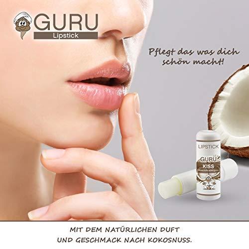 Guru Coconut Kiss- Lipstick, Lippenbalsam & Lipbutter mit reinem Kokosöl