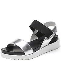6873e978acd5 Sandalen Damen,Binggong Frauen Sommer Sandalen Schuhe Peep-Toe Low Schuhe  Roman Sandalen Damen