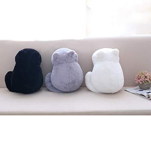 DIVAND Süße Katze Form Kissen,Plüschtier Katzenkissen Weichem Plüsch kissenpolster Sofa Spielzeug Sofa Sitzkissen Geschenk, Wohnkultur 3 Farbe,33cm,Gray