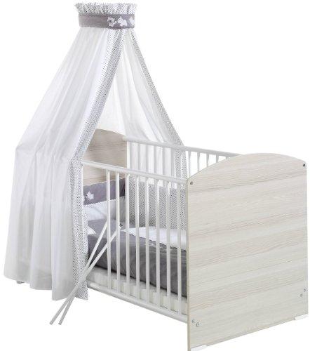 Preisvergleich Produktbild Schardt 134490000 3/721 Bettset 4-teilig, mit Applikation Amigos, und 2-teilige Bettwäsche, Himmel und Nestchen