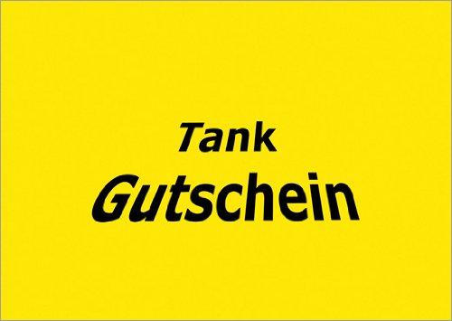 Im 5er Set: Fröhlicher Tank Gutschein (blanko) – vielleicht für ein sommerliche Spritz Tour?