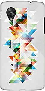 Snoogg Abstract Colourful Theme Case Cover For Google Nexus 5