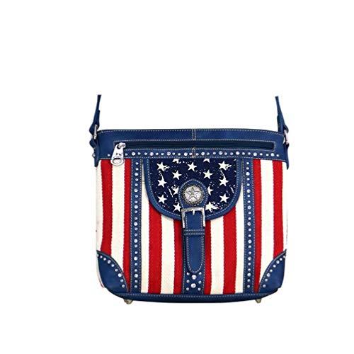 Handtasche Schultertasche Westerntasche Montana West Line Dance Flagge USA -