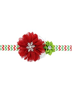 Zhhlaixing Christmas Baby Girls Toddler Kids Stretch bouquet Headband Hairband Hair Accessories for Photography...