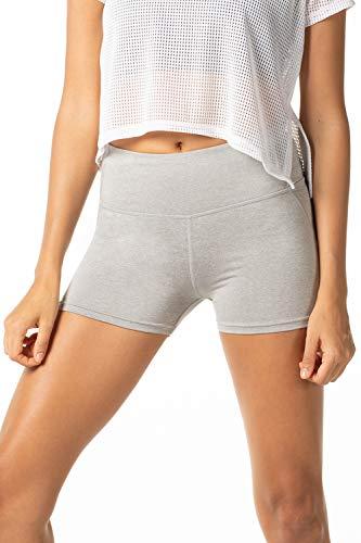 LAPASA Damen Leggings Sport Yoga Pant Shorts Kurz Blickdicht High Wasit mit Tasche 1 bis 2 Pack, MEHRWEG L09