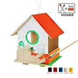ROBOTIME 3D Rompecabezas De Madera - Casa De Aves Con Pintura Herramientas Niño Educativo Woodcraft rompecabezas de juguete DIY Kit