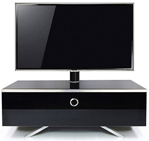 MDA Designs Cubic hybride brillante complet Meuble TV type Cantilever adaptable Noir