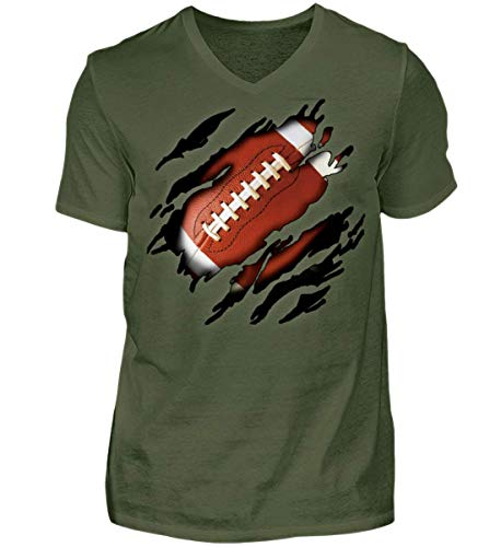 American Football IN Mir - Herren V-Neck Shirt
