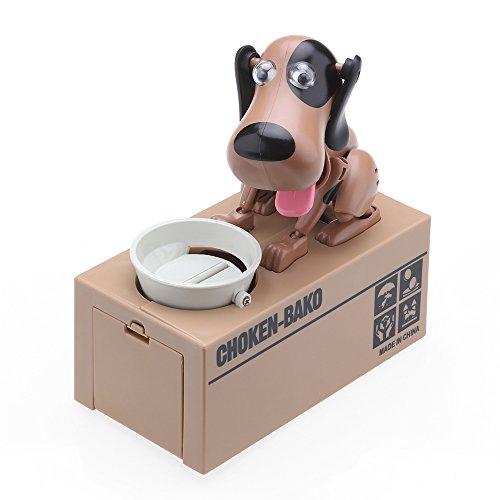 Mechanische Hund Piggy Bank Roboter Essen Münze Sparschwein, AOZBZ Niedlichen Tier Geld Box Automatische Kauen Münze Bank Spardose Spielzeug - Watch It Frisst Ihre Münzen (Typ 3)