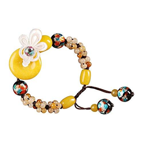 hrcxue der National Air Clip-Sicherheit Armband weiblich Retro klein Fresh Schale von Ornamenten Hand Ornamente von voluminösen (Mais Sicherheit)