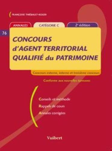 Concours d'agent territorial qualifié du patrimoine ( 2ème édition 2006): Concours externe, interne et troisième concours