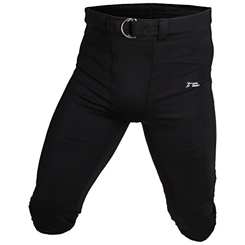 Active Athletics American Football Hose, No Fly Gamepants - Schwarz L