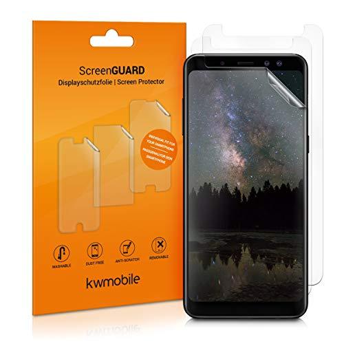 kwmobile 3X Folie für Samsung Galaxy A8 (2018) - klare Bildschirmschutzfolie Bildschirmschutz Crystal Clear kristallklar Bildschirmfolie Schutzfolie
