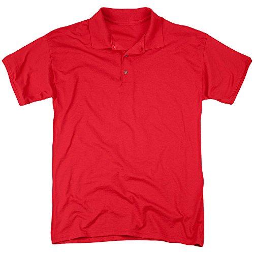 DC Comics Herren Poloshirt Rot