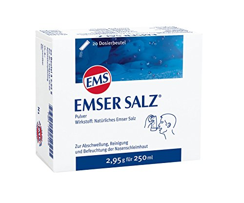 Emser Salz zur Verwendung mit der Emser Nasendusche - Bei Erkältung als Alternative zu Nasenspray / 20 x 2,95 g Beutel