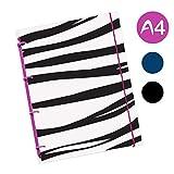 flexinotes-Cuaderno (A4, tipo: Zebra, Negro, 75hojas de cuadros-Anillo S, color frutas del bosque