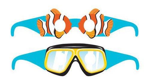 Creative Converting Ocean 6Zählen Sonnenbrille Partyzubehör (Birthday Banner Nemo)