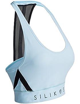 Sujetador deportivo de alto impacto para mujer Sujetador SILIK estampado de espalda cruzada para yoga