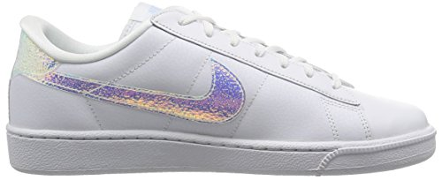 Nike Wmns Tennis Classic Prm, Sneakers basses fille Blanc
