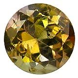 0,80 ct Rundschliff (6 x 6 mm) unbehandelter grüner Tanzanit natürlicher loser Edelstein