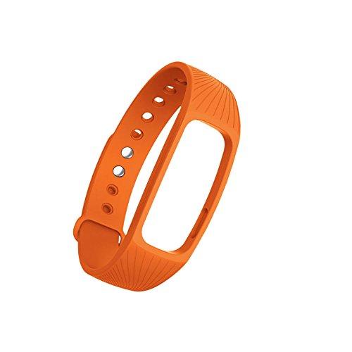 Exing Uhrenarmbänder Fitness Tracker Pulsmesser Armband Armband für IPRO ID107 Smart Watch (Orange)