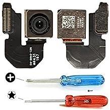 Repuesto de cámara trasera/posterior para Iphone 6S (A1633 A1688 A1700). Cámara trasera de 12 megapíxeles con auto-enfoque, flash dual LED, cámara de reverso. Incluye 2x destornilladores para una fácil instalación. MMOBIEL