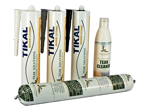 Tikalflex TSC Teak-Nähte-Kit Würste/Kit für Teakholz   Schwarz   600ml   Einfache Verarbeitung, Hervorragende Haftung (Wurst-kit)