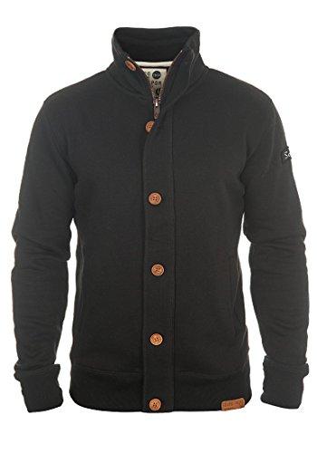 SOLID Tripjacket - Felpa Con Zip da Uomo, taglia:L;colore:Black (Nero A Coste Con Scollo A V Maglia)