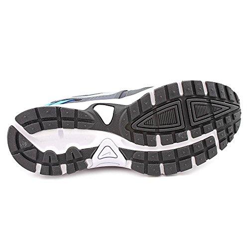 Nike Running Dart 10 Lgb, Scarpe da corsa bambini bianco bianco Grigio / Argentato / Nero (Drk Grey / Mtllc Slvr-Vvd Bl-Blk)