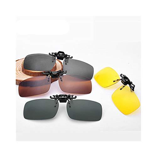 Klassische Sportsonnenbrille, Men Women Retro Flip Up Polarized Sunglasses Clip On Myopia Glasses Kids Day Night Vision Goggles Sun Glasses UV400 Three Sizes M Size Black Gray