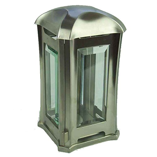 designgrab ael5 Lampe tombale Venezia en Acier Inoxydable, Argent, 13 x 13 x 24 cm
