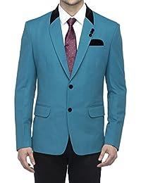 Favoroski Men's Cotton Blend Blazers - Turkish Green