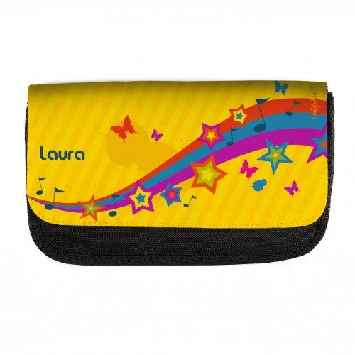 Preisvergleich Produktbild Striefchen® Schlampermäppchen - Stars and Music - Name: Laura