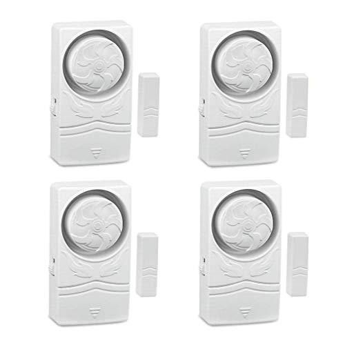 GuDoQi DIY Fensteralarm Türalarm 110dB Einbruchschutz, Mini Magnetkontakt Sensor für Türen und Fenster, Alarmanlage Fensterkontakt, Haussicherheit, 4er Set mit Batterien