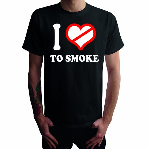 I don't love to Smoke Herren T-Shirt, schwarz, -